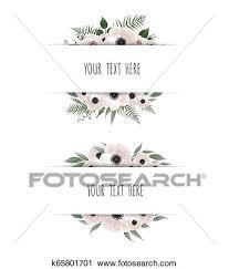 Horisontal Botanical Vector Design Banner Pink Rose