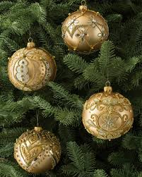 24 Karat Gold Decorated Egyptian Glass Christmas Ornaments Colored Christmas Ornament Sets