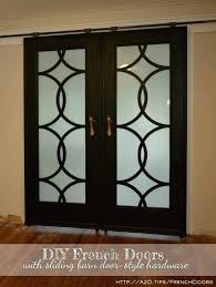 barn style sliding door french doors with budget friendly hardware diy