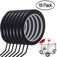 Buy Black Line Tape For Whiteboard 2mm X 16m Set Of Three In