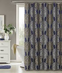 j queen new york blu constance shower curtain