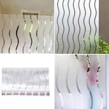 frosted window stained glass vinyl wavy paper privacy covering