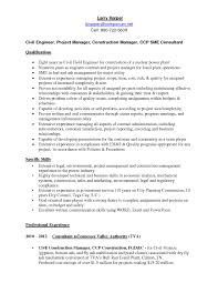 Resume Format For Experienced Civil Engineers Free Resume