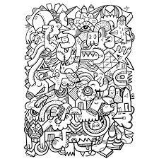 Kleurplaat Monster