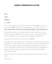 Business Contract Letter Sample Printable Termination Form Agreement ...