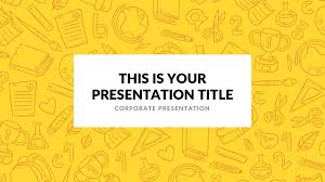 Powerpoint Backgrounds Yellow Elementary Free Powerpoint Template