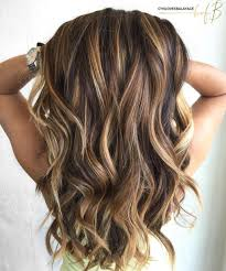 Medium Length Brown Hair With Light Brown Highlights 60 Looks With Caramel Highlights On Brown And Dark Brown