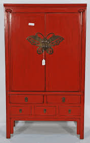 red lacquered furniture. Antique Asian Furniture: Chinese Red Lacquered Wedding Cabinet Armoire From Zhejiang Province, China Furniture U