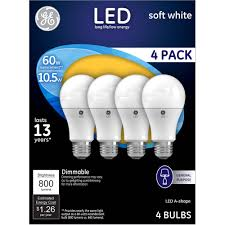 60 Watt Light Bulb Walmart Ge 60w Equivalent Uses 10 5w Soft White A19 Led Bulb 4
