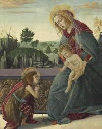 sandro botticelli the rockefeller madonna madonna and child with young saint