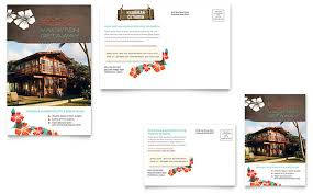 mortgage flyers templates vacation rental postcard template design by stocklayouts free