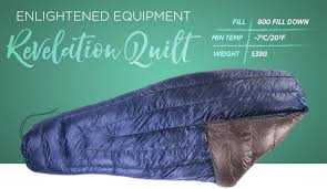 The 9 Best Sleeping Bags for Backpacking of 2018 - Cool of the Wild & Enlightened Equipment Revelation Quilt Adamdwight.com