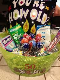 50th gift basket idea