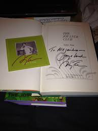 amy tan says she ll be swimming sharks meet me at first book plate ya ll
