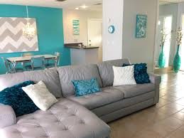Teal Blue Living Room Cutler Design Construction Peacock Blue Accent Wall White Square