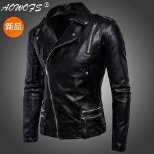 the new men s lapels are multi zipper embellished with men s leather jackets and fashionable breathable leather jackets 158 leather jacket men turn over