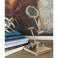nickel silver aluminum magnifying glass decor with