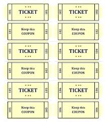 Print Raffle Tickets At Home Print Your Own Tickets Template Printing Raffle At Home New
