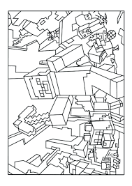 Minecraft Mutant Zombie Coloring Pages