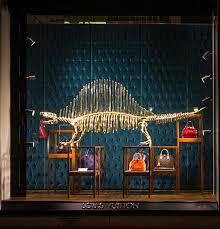 louis vuitton window display. the many store window displays in new york city often serve as both an incredible art exhibit well product advertisement. this display by louis vuitton o