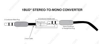 1 bud stereo to mono converter scan sound sku 1bud s2ma