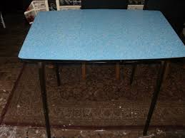 Retro Metal Kitchen Table Vintage 1950s Blue Formica Dining Diner Kitchen Table With Metal