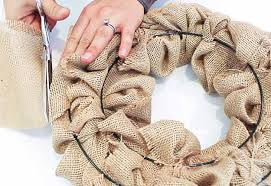 Small Picture How To Make a Burlap Wreath DIY Joy
