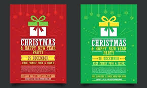 Free Happy New Year Party Flyer Template Holidays Christmas