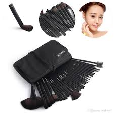 black vander makeup brushes set foundation face eye powder professional pinceaux cosmetics makeup brush pouch bag bronzer brush cosmetics from