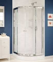 glass shower enclosures with a ceramic wall