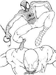 Small Picture Coloring Pages Full Size Coloring Pages To Print Spiderman Vs