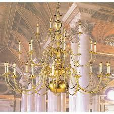 weinstock illuminations 28 light polished brass chandelier