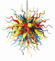 Großhandel Hotel Dekoration Handgefertigte Geblasenes Farbiges Glas Kronleuchter Licht Chihuly Stil Kunst Murano Glas Pendelleuchten Zum Verkauf Von