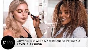 advanced 2 week makeup artist program fashion nina