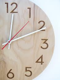 Modern Wall Clock With Modern Numbers Clock Designs Pinterest