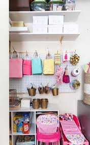 office and playroom. Craft Closet, Wrapping Station, Organization, Container Store - Home Office And Playroom Combination