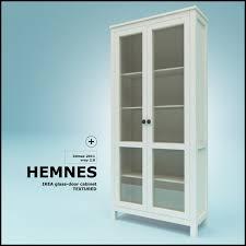 Glass Door Cabinet Ikea Hemnes Bookcase Glass Doors Roselawnlutheran
