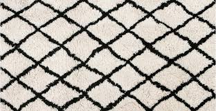 white and black rug superhuman large wool gy berber moroccan 160 x 230cm fes made com