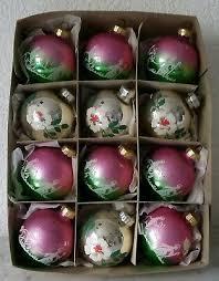 Christbaum Weihnachtschmuck Kugel Rosa Silber 70er 80er
