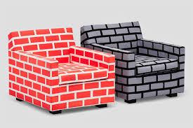 red brick furniture. chair brick sofa wall bricks red furniture