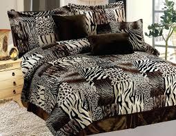 11 piece safari micro suede faux fur bed in a bag set animal print duvet covers