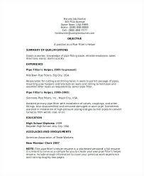 Pipefitter Resume Examples Helper Resume Steamfitter Pipefitter