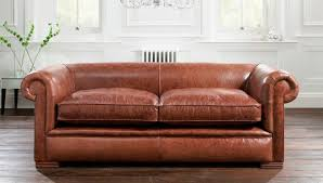 leather sofa bed. Sofa Bed / Traditional Leather 2-seater - BERKELEY