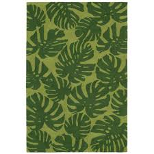 lucca jungle leaf green 8 ft x 10 ft rectangle indoor outdoor area
