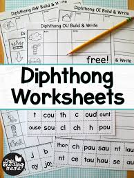 4 phonics worksheets (ou / ow) interactive notebook coloring page **related products** first grade phonics pacing guide these phonics worksheets use spelling words from my phonics pacing guide. Diphthong Worksheets Build Write This Reading Mama