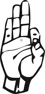 sign language letter f clipart deaf alphabet f
