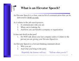 Elavator Speech Rdrew Elevator Speech