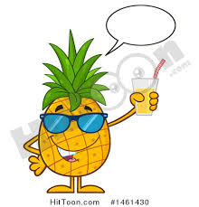 pineapple with sunglasses clipart. clipart of a male pineapple mascot character wearing sunglasses, talking and holding juice - royalty with sunglasses