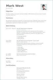 Sample Resume For Maintenance Engineer Aircraft Maintenance Engineer
