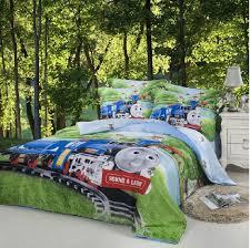 train thomas kids boys cartoon comforter bedding set children for queen size quilt duvet cover bedspread bed in a bag sheets bedroom linen oriental bedding